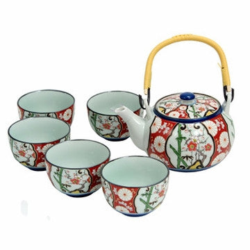 Japanese Style Tea Set (Japanese Bamboo Floral)