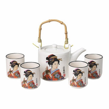 Japanese Style Tea Set (Japanese Geisha)