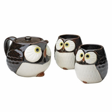 Japanese Style Tea Set (Japanese Lucky Longevity Owl)