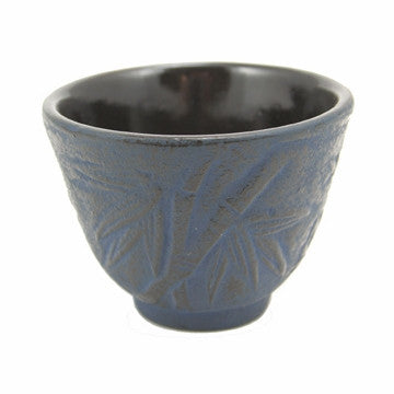 Cast Iron Teacup (Blue Bamboo)