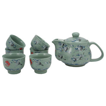 Japanese Style Tea Set (Nine Crane Tea Set)