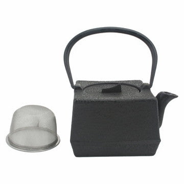Cast Iron Teapot (Black Square Tetsubin)