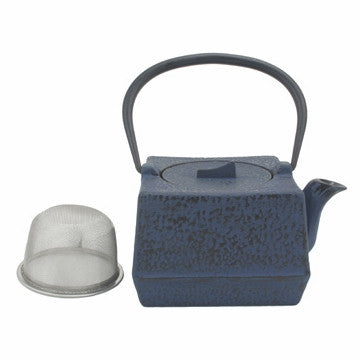 Cast Iron Teapot (Blue Square Tetsubin)