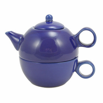 English Teapot (Blue Teapot with Cup)