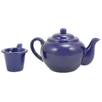 English Teapot (Blue Teapot with Infuser)