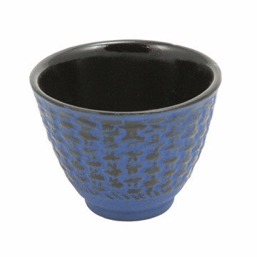Cast Iron Teacup (Blue Traditional)
