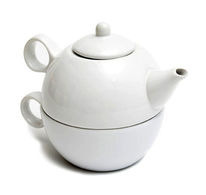 English Teapot (White Teapot with Cup)