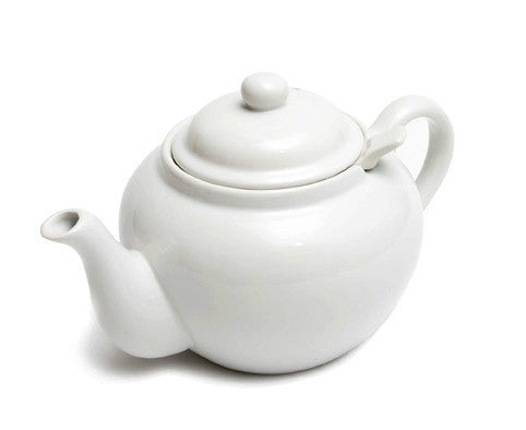 English Teapot (White Teapot with Infuser)
