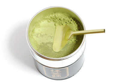 Matcha Caddy Tin With Sieve Filter