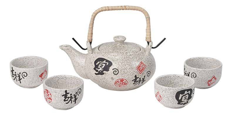 Ceramic Mini Tea Set (Luck & Prosperity)