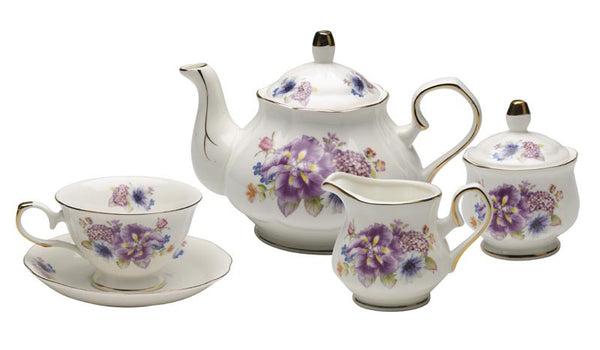 English Tea Set (Royal Court Fine Porcelain)