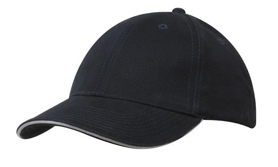 Brushed Cotton Sandwich Peak Cap
