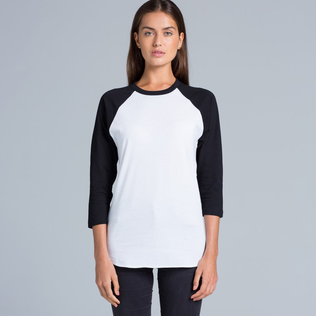 Ladies 3/4 sleeve Raglan Tee