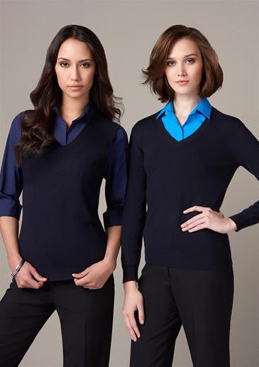 Ladies V-Neck Jumper