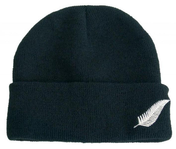 Beanie with Silver Fern