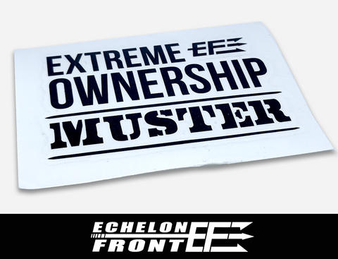 Decal - Extreme Ownership MUSTER - Black