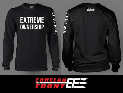 T-Shirt - Extreme Ownership | EF | Lead.Win. - Long Sleeve - Black
