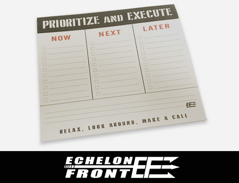 Mouse Paper Pad: Prioritize and Execute
