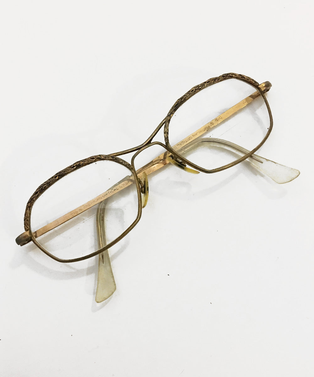 Vintage Gold Thin Frame American Optical Eye Glasses
