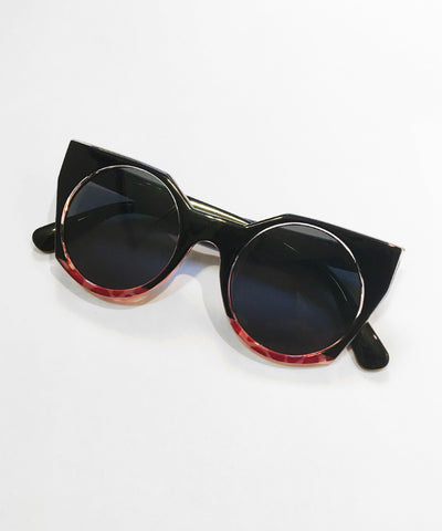 Blackberry 1960s Inspired Geometric Sunglasses