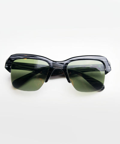 Black Safari Tiger Stripe Retro Sunglasses
