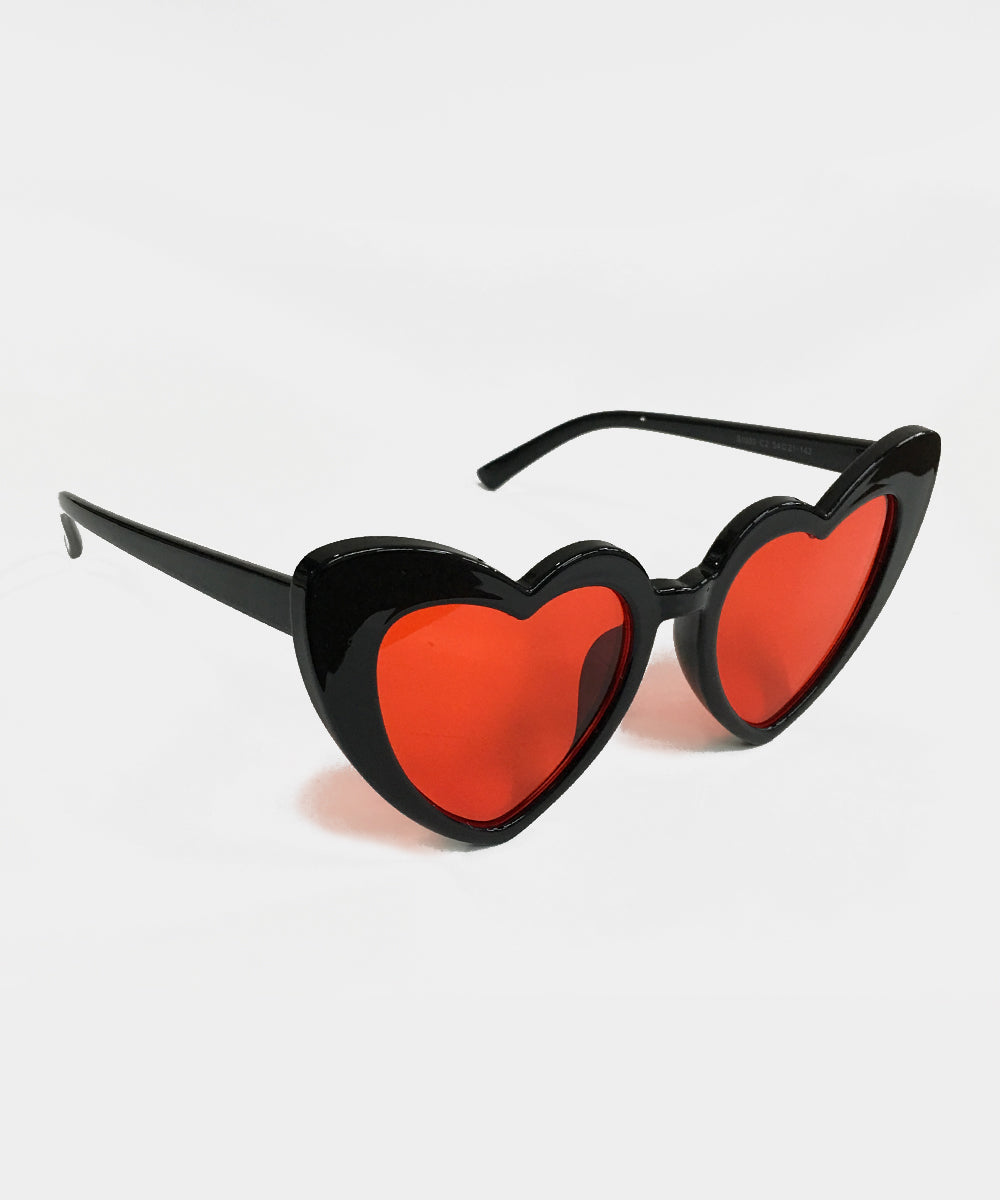 Black & Red Bloody Valentine Heart Sunglasses