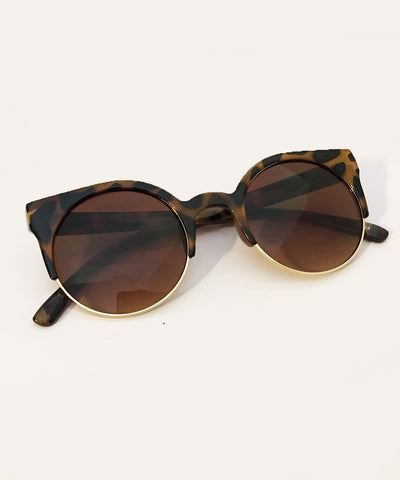 1940s Inspired Tortoise Brown Retro Wayfarer Sunglasses