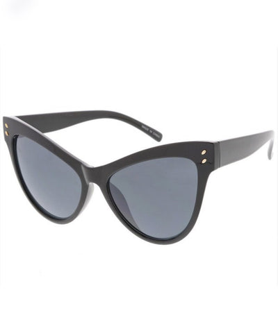 1950s Oversized Dramatic Classic Black Sunglasses
