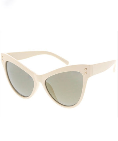 1950s Oversized Dramatic Classic Ivory Sunglasses