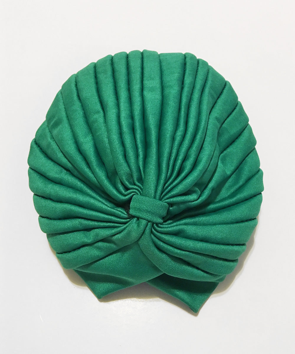 Grass Green Stretchy Fitted Vintage Inspired Turban