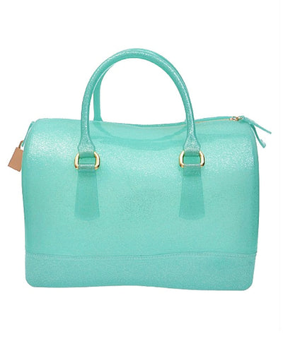 Mint Green Glitter Jelly Handbag