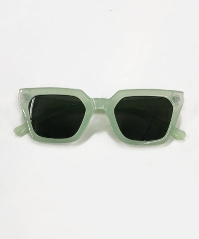 Mint Green Retro Square Frame Sunglasses