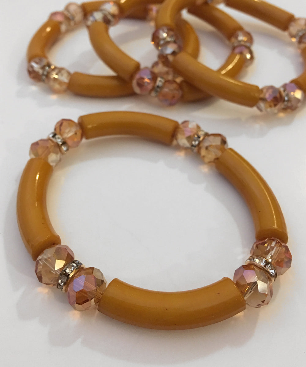 Mustard Yellow Classic Stretchy Bracelet Set