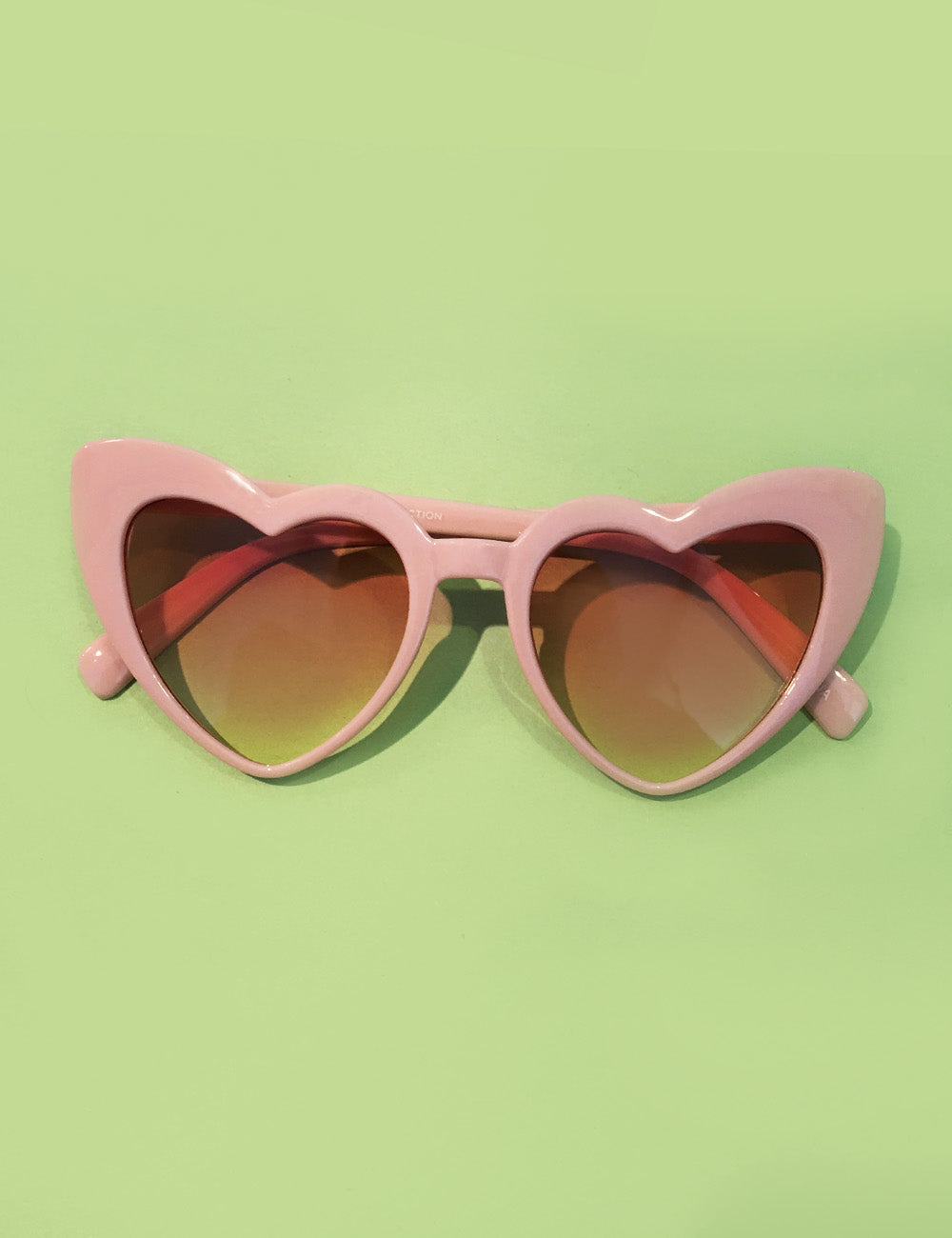 Cute Baby Pink Heart Shaped Retro Sunglasses