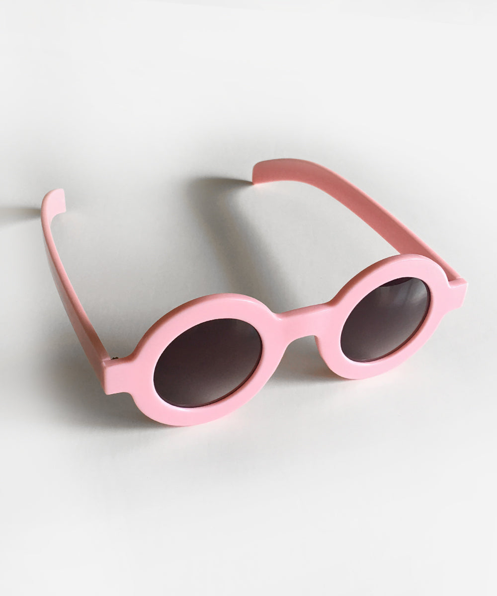 Baby Pink 1940s Inspired Retro Round Sunglasses