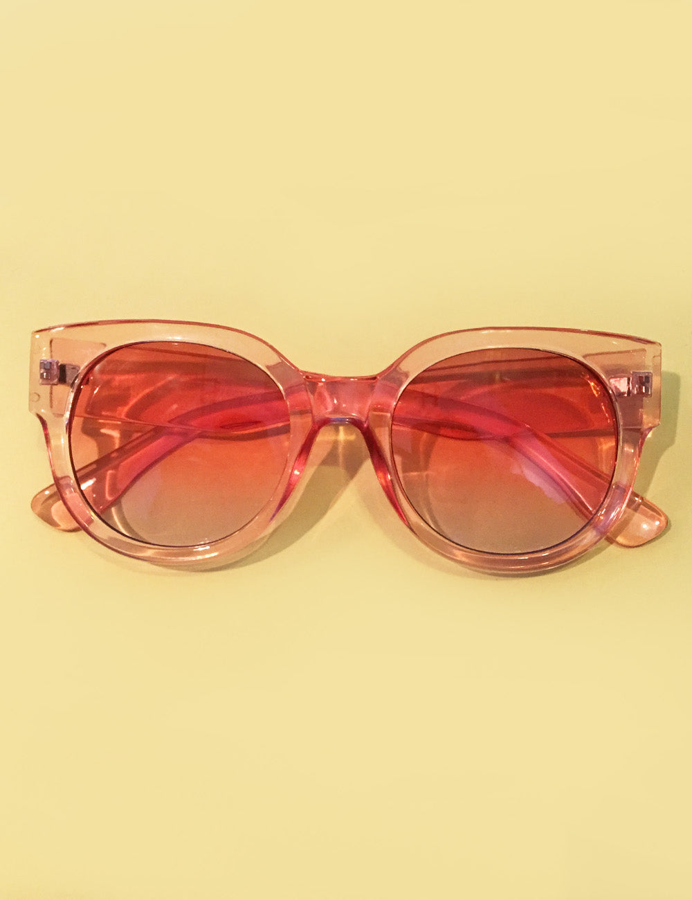 Pretty in Pink Translucent Summer Shade Retro Inspired Sunglasses
