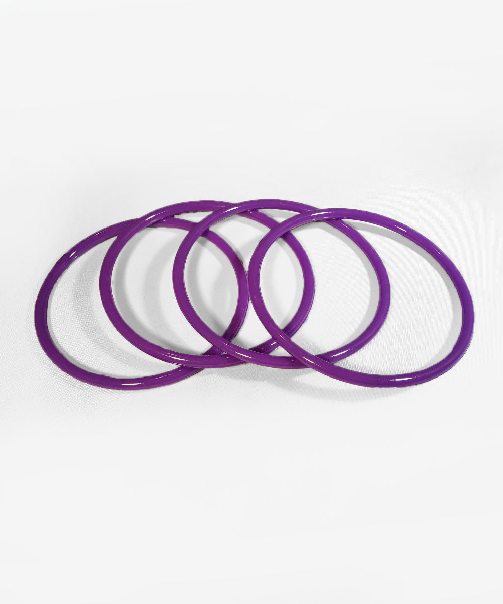 Purple Plastic Filler Bangle Set