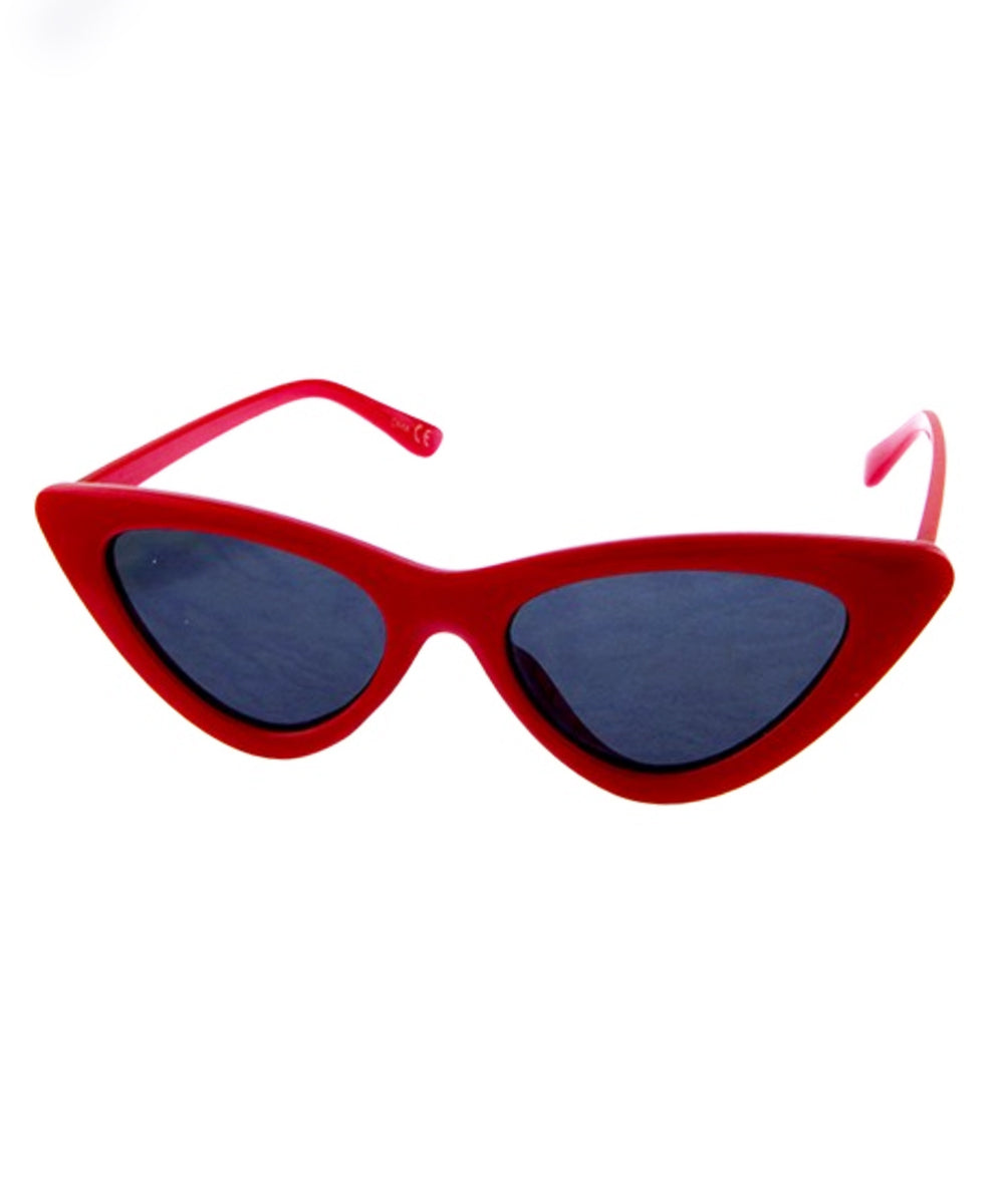 Red Classic 1950s Cat Eye Retro Sunglasses