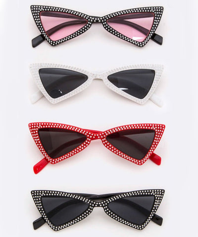 1950s Inspired Ultra Hot Studded Retro Sunglasses