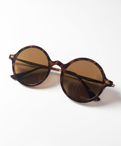 1940s Tortoise Brown Thin Framed Round Lightweight Sunnies