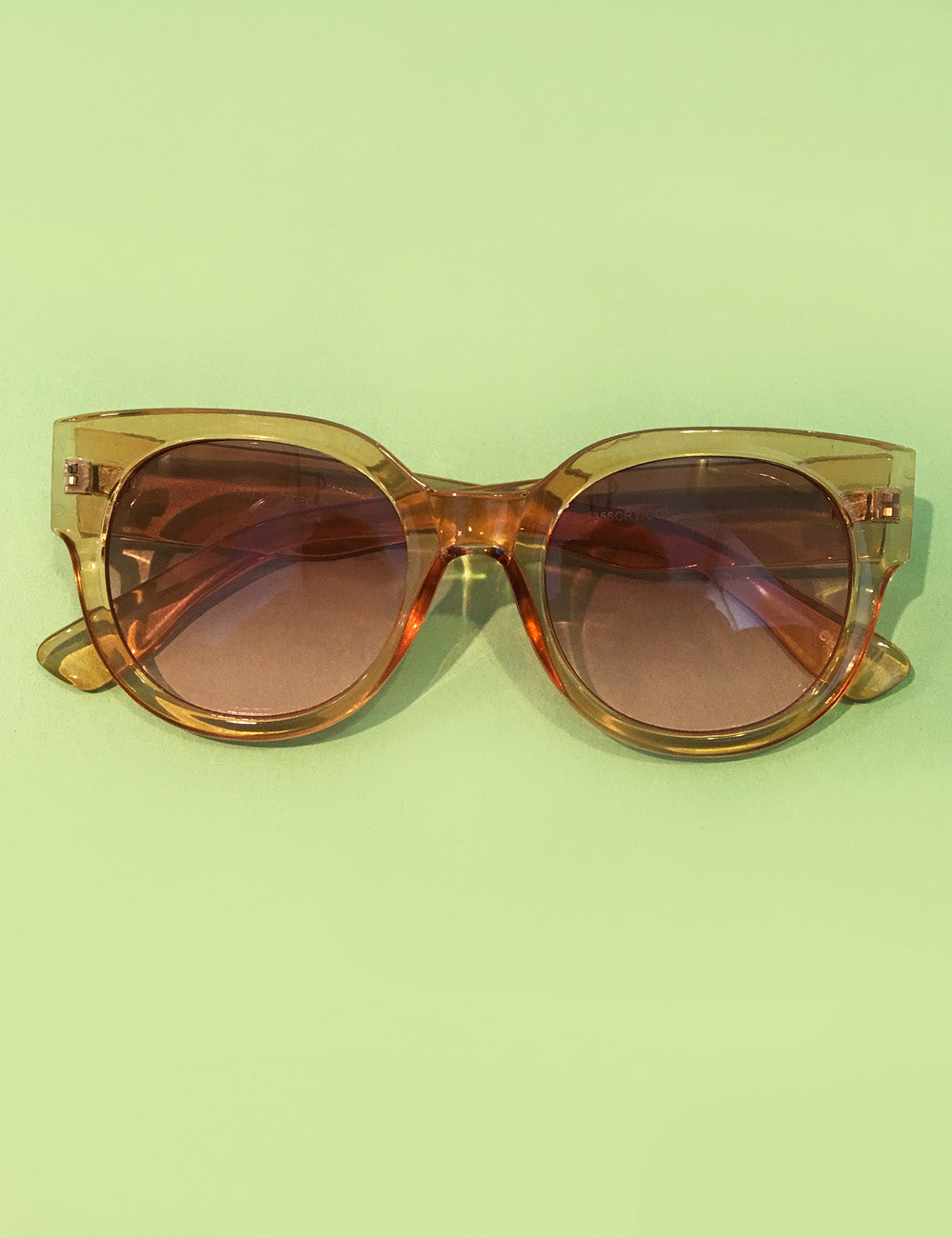 Tan Translucent Summer Shade Retro Inspired Sunglasses