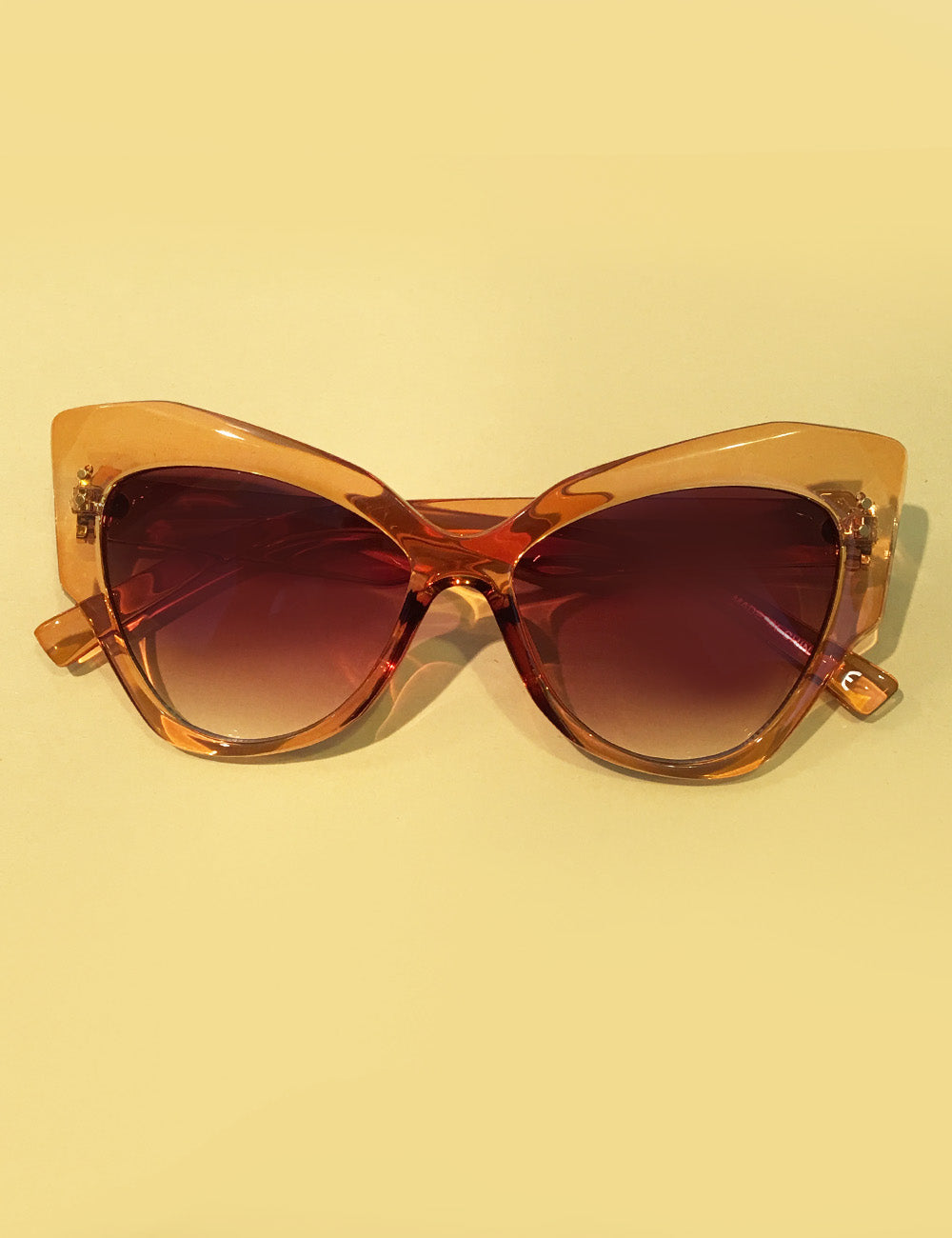 1950s Topaz Oversized Retro Doris Cat Eye Sunglasses