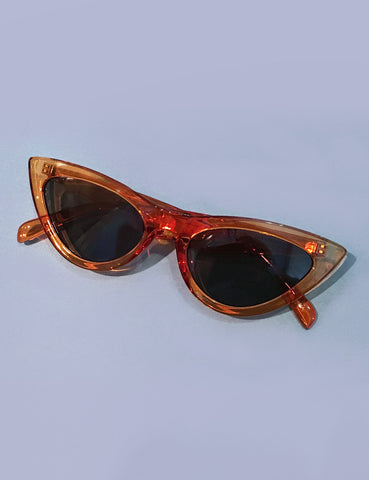 Translucent Topaz Classic 1950s Cat Eye Sunglasses