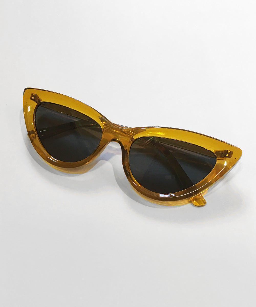 Topaz Classic 1950s Cat Eye Inset Lens Sunglasses