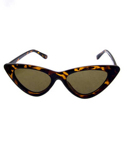 Tortoise Brown Classic 1950s Cat Eye Retro Sunglasses