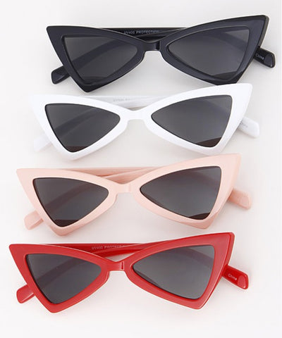 Triangulated Small Frame Retro 1950s Sunglasses