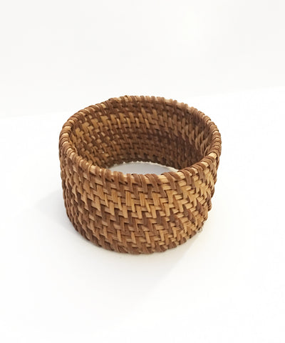 Ultra Thick Woven Tiki Style Bangle Bracelet