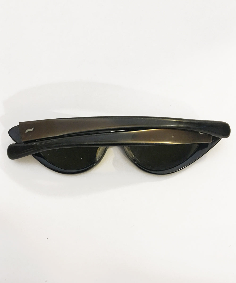 Vintage Marbled Plastic 1950s Cat Eye French Sunglasses