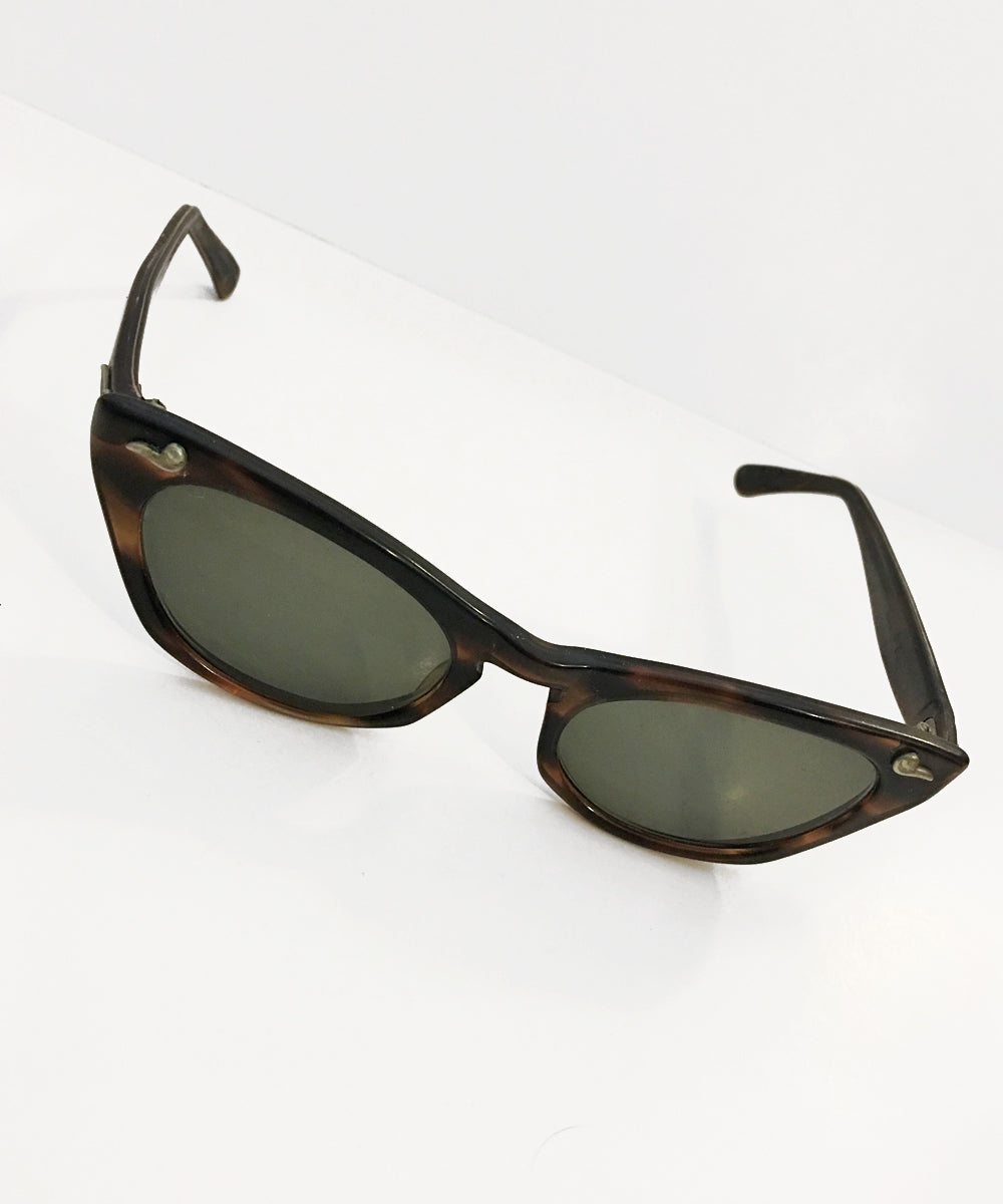 Vintage 1950s Tortoise Brown Romco Sunglasses