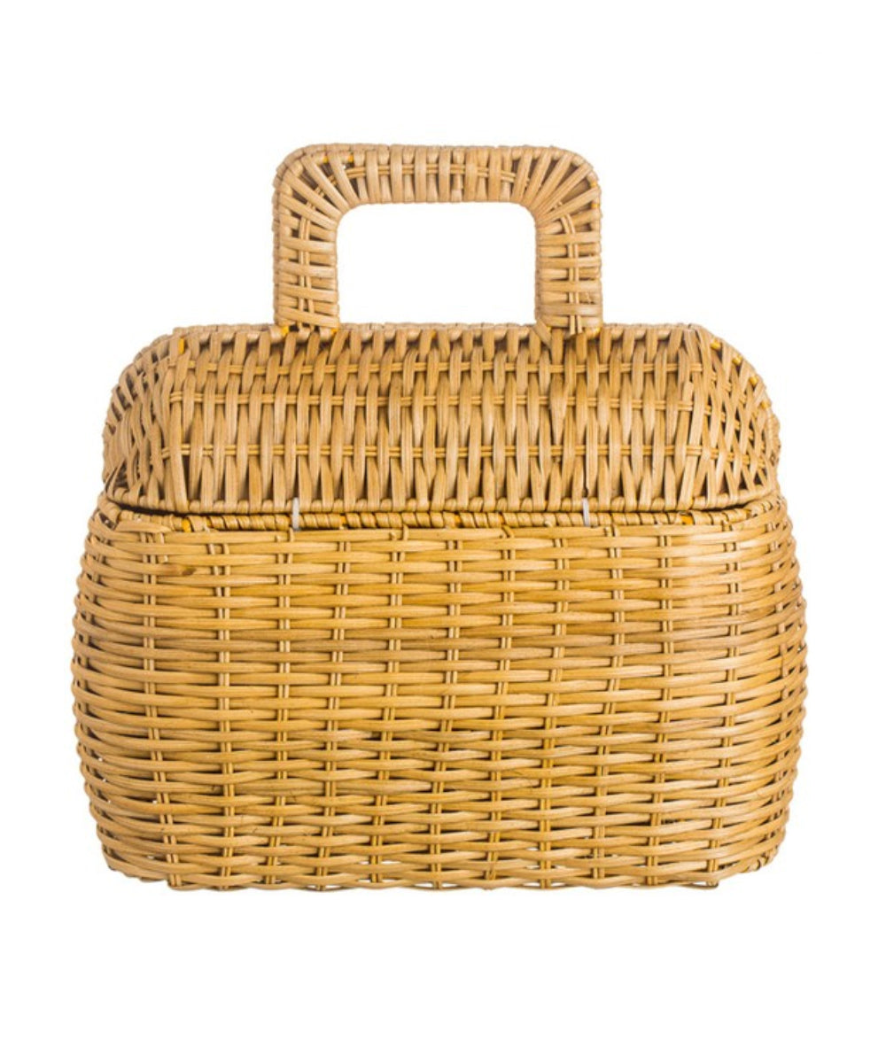 Retro Inspired Woven Straw Picnic Style Hangbag